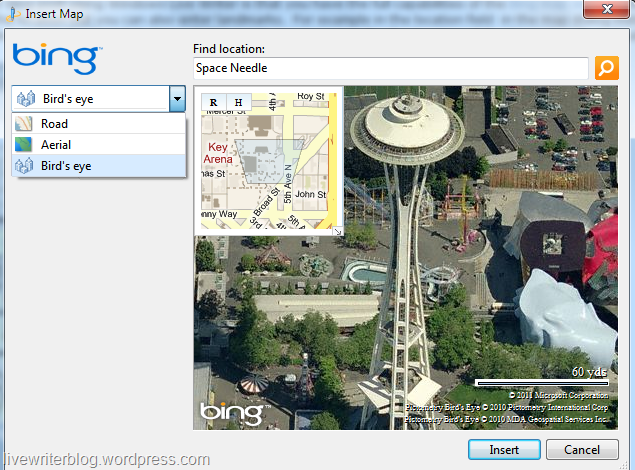 Bird's eye view of Space Needle
